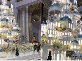 Торт за 179000 долларов на казахстанской свадьбе