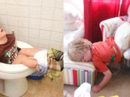 Дети могут уснуть где угодно. До слез!