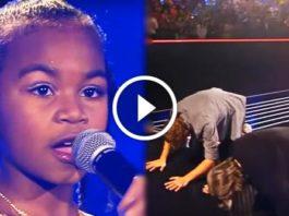 Голос этой малышки невероятен. Судьи буквально поклонялись ей!