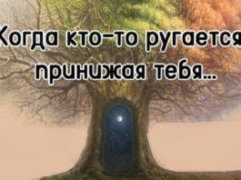 Замечательные слова: «Когда кто-то ругается, принижая тебя…»