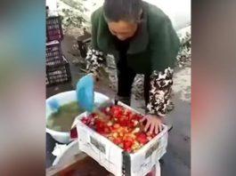 Как красят клубнику, яблоки и баклажаны в Китае. Не для слабонервных