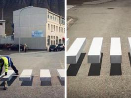 Чтобы пешеходов всегда пропускали на дороге, придумали вот такую ″зебру″