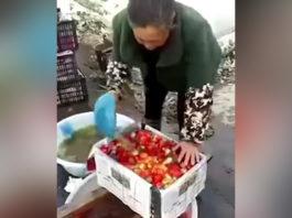 Не для слабонервных. Как красят клубнику, яблоки и баклажаны в Китае