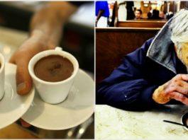 Бомжеватый на вид мужчина зашел в кафе и попросил «подвешенный» кофе…