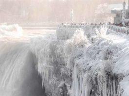 Ниагарский водопад снова замерз! Вот фото