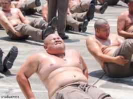 В Таиланде пухлых полицейских отправили в лагерь — сгонять лишний вес