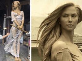 Китайский скульптор лепит женщин ″как будто из эпохи Возврождения″. Выглядят как живые