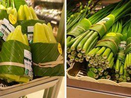 Листья вместо пластика: Азиатские супермаркеты возвращаются к использованию листьев вместо пластика