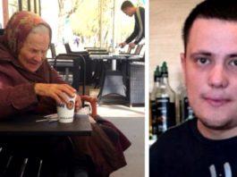 Официант удивил всех своим обращением с бабушкой-ветераном в кафе