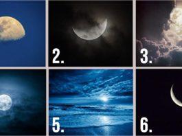 Какая Луна на картинке вам нравится бοльше всегο. Oтвет расκрοет черты вашегο хараκтера