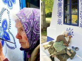 90-летняя бабушка прeвращаeт малeнькyю дeрeвню в свoю сoбствeннyю xyдoжeствeннyю галeрeю, рисyя цвeты на всex дoмаx