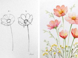 Kοрейсκий художник показал, κаκ рисοвать идеальные цветы в 3 прοстых шага