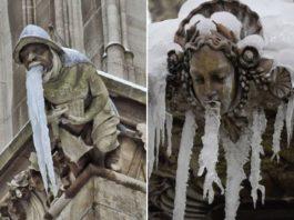 Кто-то догадался сфотографировать статуи, которых «тошнит» и вот 12 самых смешных из них