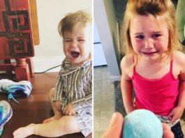Родители делятся смешными и абсурдными причинами, из-за которых плачут их дети