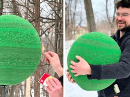 Целый год он делал шар из спичек, чтобы просто его поджечь. Результат поражает