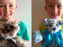 Мальчик с добрым сердцем: ребенок шьет игрушки и дарит их больным детям