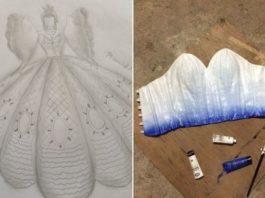 Родители не могли купить выпускное платье для дочери, но её брат сделал всё своими руками