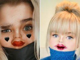 Девушки рисуют на носах крошечные рты, и это идеальный вариант, когда лицо скрыто за маской
